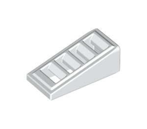 LEGO White Slope 1 x 2 x 0.6 (18°) with Grille (61409)