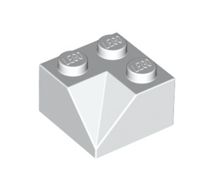 LEGO White Slope 2 x 2 (45°) with Double Concave (Rough Surface) (3046)