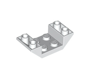 LEGO White Slope 2 x 4 (45°) Double Inverted with Open Center (4871)