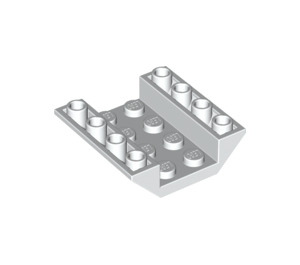 LEGO White Slope 4 x 4 (45°) Double Inverted with Open Center (No Holes) (4854)
