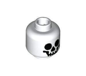 LEGO White Smiling Skeleton Head (Recessed Solid Stud) (10879 / 82359 / 99574)
