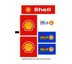LEGO White Sticker Sheet for Set 1253-1 (22645)