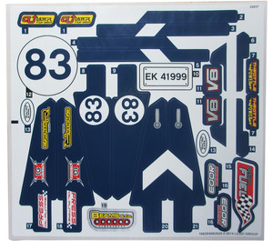 LEGO White Sticker Sheet for Set 41999 (16629)