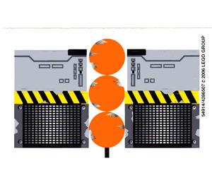 LEGO White Sticker Sheet for Set 6208 (54914)