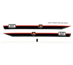 LEGO White Sticker Sheet for Set 6429 (22521)
