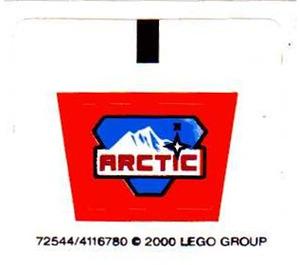 LEGO White Sticker Sheet for Set 6577 (72544)