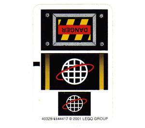LEGO White Sticker Sheet for Set 6775 (40329)
