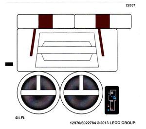 LEGO White Sticker Sheet for Set 75004 (12970)