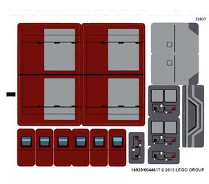 LEGO White Sticker Sheet for Set 75025 (14920)