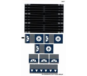 LEGO White Sticker Sheet for Set 75044 (16419)