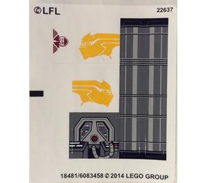 LEGO White Sticker Sheet for Set 75048 (18481 / 18483)