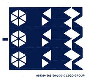 LEGO White Sticker Sheet for Set 8086 (88526)
