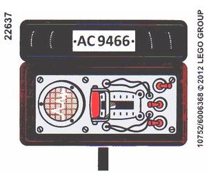 LEGO White Sticker Sheet for Set 9466 (10752)