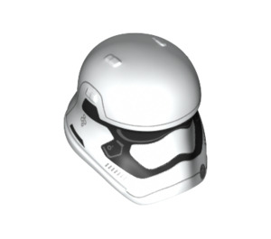 LEGO White Stormtrooper Helmet with Rounded Mouth (23911)