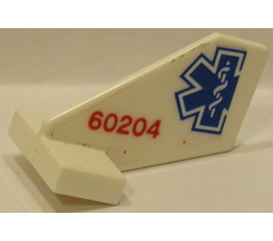 LEGO White Tail 2 x 3 x 2 Fin with EMT Star and '60204' Sticker