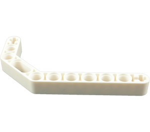 LEGO White Technic Beam 3 x 3.8 x 7 Beam Bent 45 Double (32009)