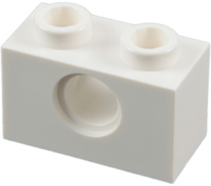 LEGO White Technic Brick 1 x 2 with Hole (3700)