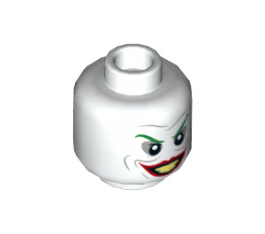 LEGO White The Joker Plain Head (Recessed Solid Stud) (50724)