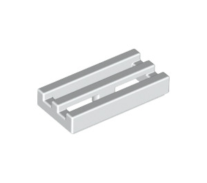 LEGO White Tile 1 x 2 Grille (with Bottom Groove) (2412)