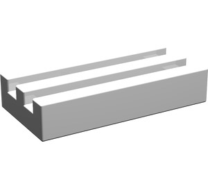 LEGO White Tile 1 x 2 Grille (without Bottom Groove) (2412)
