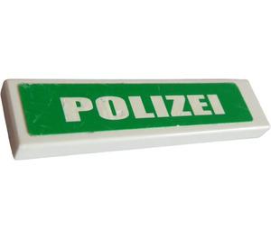 """LEGO White Tile 1 x 4 with """"POLIZEI"""" Sticker"""
