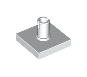 LEGO White Tile 2 x 2 with Vertical Pin (2460 / 49153)
