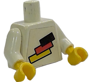 LEGO White Torso with German Flag and Variable Number on Back