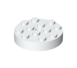 LEGO White Turntable 4 x 4 Top (Locking) (30658)