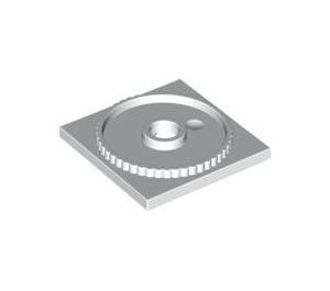 LEGO White Turntable Flat Base 4 x 4 (61485)
