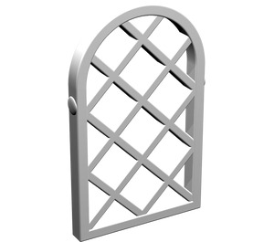 LEGO White Window 1 x 2 x 2.667 Pane Lattice Diamond with Rounded Top (30046)