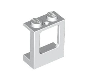 LEGO White Window 1 x 2 x 2 with 2 Holes in Bottom (2377)