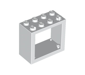 LEGO White Window 2 x 4 x 3 with Rounded Holes (4132)