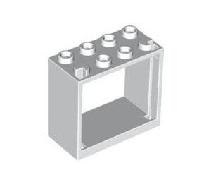 LEGO White Window 2 x 4 x 3 with Square Holes (60598)