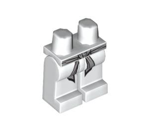 LEGO White Zane Legs with Gray Belt (93751)