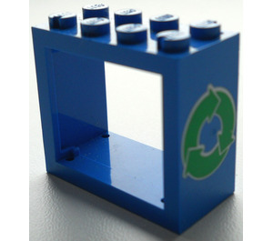LEGO Window 2 x 4 x 3 with Recycling Arrows with Rounded Holes (4132)