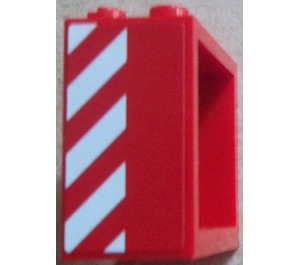 LEGO Window 2 x 4 x 3 with Sticker from Set 60023 with Square Holes (60598)