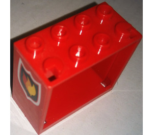 LEGO Window 2 x 4 x 3 with Sticker from Set 7208 with Square Holes (60598)