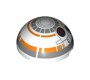 LEGO Windscreen 4 x 4 x 1.6 Dome with BB-8 Droid Head (37287)