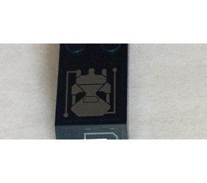 LEGO Windscreen 5 x 2 x 1 & 2/3 with Circuitry and Skull (Right) Sticker (6070)