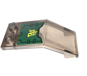 LEGO Windscreen 5 x 2 x 1 & 2/3 with Dark Green Panel and Asian Character Sticker (6070)
