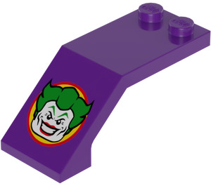 LEGO Windscreen 5 x 2 x 1 & 2/3 with The Joker Sticker (6070)