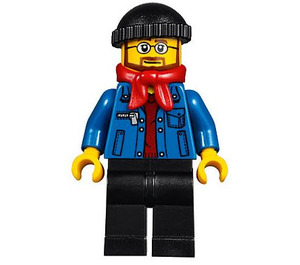 LEGO Winter Holiday Train Station Bus Driver Minifigure
