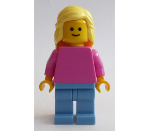 LEGO Woman with Dark Pink Shirt Minifigure