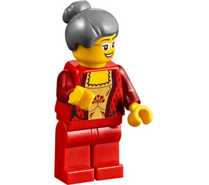 LEGO Woman with Fancy Red Shirt Minifigure
