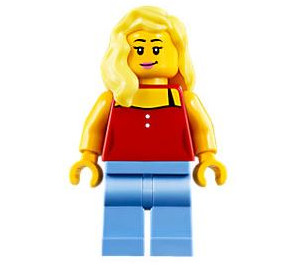 LEGO Woman with Red Coverup Minifigure