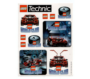 LEGO World Club sticker sheet 'Technic'
