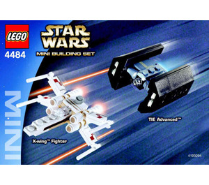LEGO X-Wing Fighter & TIE Advanced Set 4484 Instructions