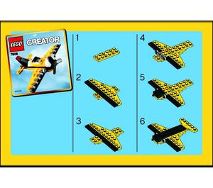 LEGO Yellow Airplane Set 7808 Instructions