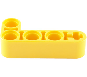 LEGO Yellow Beam 2 x 4 Bent 90 Degrees, 2 and 4 holes (32140)