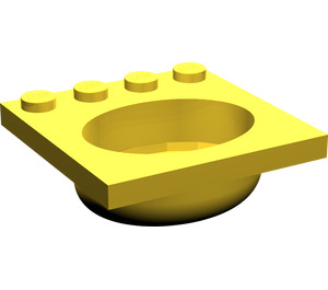 LEGO Yellow Belville Sink 4 x 4 Oval (6195)